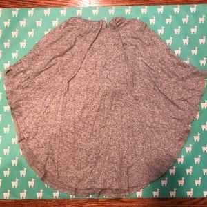 super soft gray sweater poncho with hood!